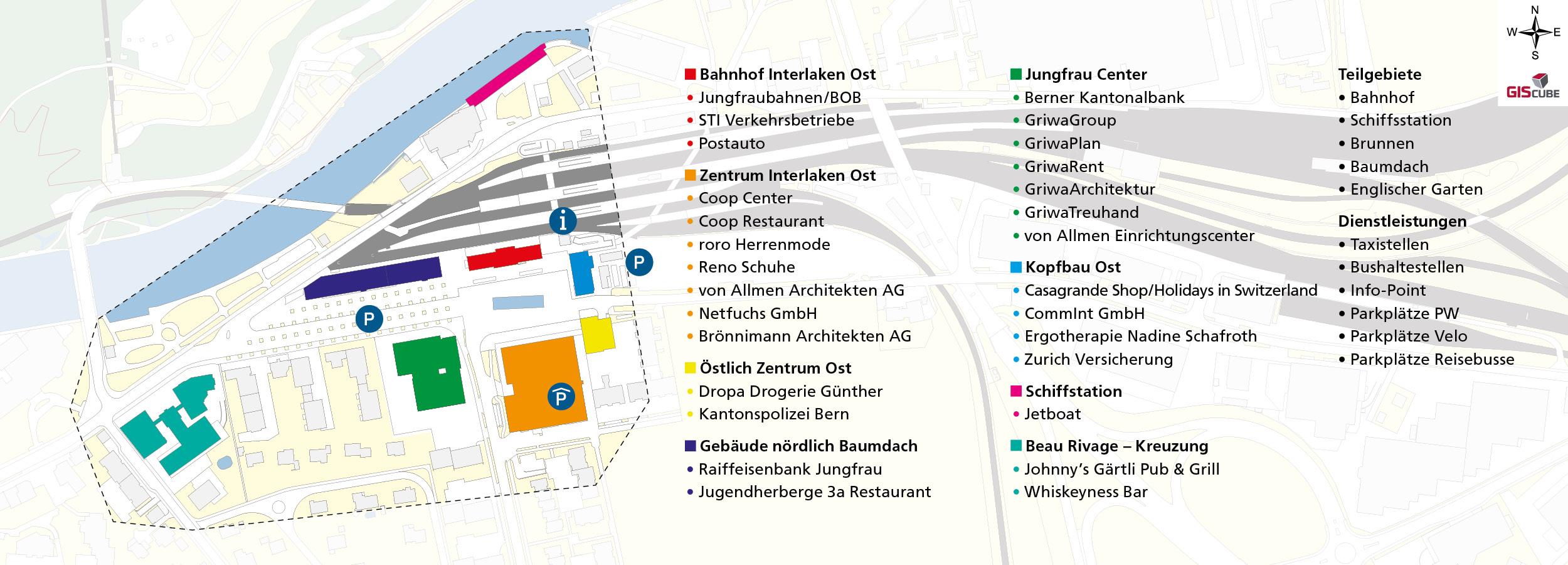 Verein Standortförderung INTERLAKEN OST Situationsplan